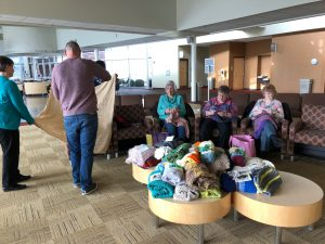 Cornerstone Church, Midwest District Stitching Challenge, Cancer support, prayer shawl, lap blankets